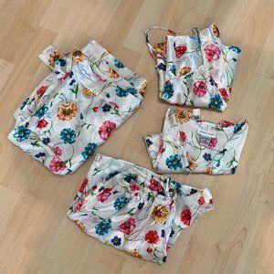 4pc Morgan Taylor Intimates Floral Satin Pajamas